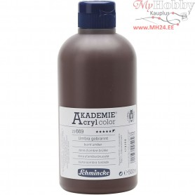 Schmincke AKADEMIEĀ® Acryl color, burnt umber (669), opaque, , 500ml