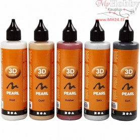 3D Liner, metallic colours, 5x100ml