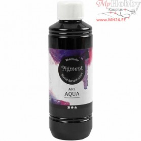 Liquid WaterColour, black, 250ml
