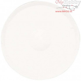 Watercolour, D: 57 mm, H: 19 mm, white, refill, 6pcs