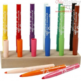Visa Color Marker, line width: 3 mm, asstd colours, including stand, 1set