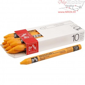 Neocolor I Crayons, thickness 8 mm, L: 10 cm, orange, orange (030), 10pcs
