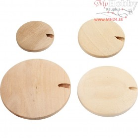 Wood Button pearl, D: 20-35 mm, china berry, 320pcs