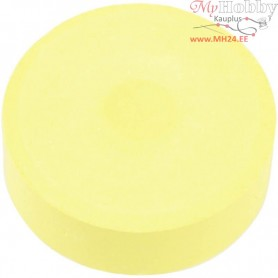 Watercolour, D: 44 mm, H: 16 mm, yellow, refill, 6pcs