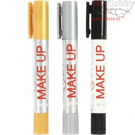 Playcolor Make Up, gold, silver, black, robot, 3x5g
