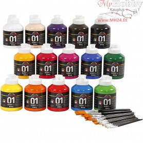 A-Color acrylic paint, asstd colours, class set, 1set