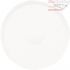 Watercolour, D: 44 mm, H: 16 mm, white, refill, 6pcs