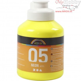 A-Color Acrylic Paint, neon yellow, 05 - neon, 500ml