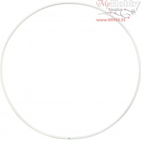 Metal Wire Ring, Circle, D: 15 cm, thickness 2 mm, 10pcs
