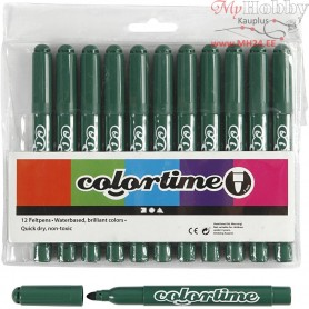 Colortime Marker, line width: 5 mm, green, 12pcs