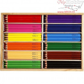 Colouring Pencils, lead: 5 mm, asstd colours, Jumbo, 144pcs