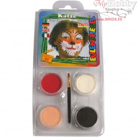 Water-based Face Paint - Motif Set, cat, 1set