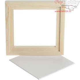 Framed Canvas Panel, outer size 15,2x15,2 cm, depth 1,5 cm, Canvas Panel 12.4x12.4 cm, 1pc