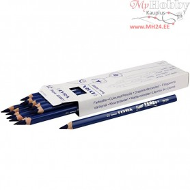 Super Ferby 1 colouring pencils, lead: 6,25 mm, L: 18 cm, dark blue, 12pcs