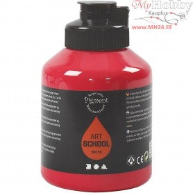 Pigment Art School Paint, primary red, semi-opaque, good fade resistant, 500ml