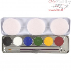 Water Makeup Palette, asstd colours, 6colours