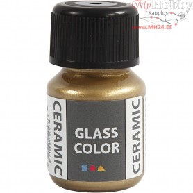 Glass Ceramic Paint, gold, 35ml
