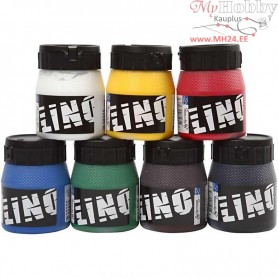 Block Printing Ink, asstd. colours, 7x250ml
