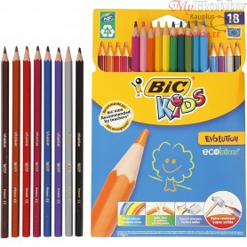 Evolution Colour Pencils, lead: 3 mm, L: 17,5 cm, asstd colours, Hexagonal, 18pcs