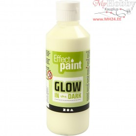 Glow in the Dark Paint, fluorescent yellow, 250ml