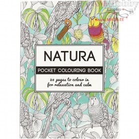 Mindfullness Colouring Book, size 10,5x14,5 cm,  20 pages, natura, 1pc