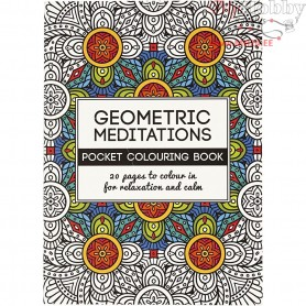 Mindfullness Colouring Book, size 10,5x14,5 cm,  20 pages, geometric, 1pc