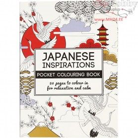 Mindfullness Colouring Book, size 10,5x14,5 cm,  20 pages, japanese, 1pc