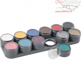 Water-based Face Paint Palette, asstd colours, 12x15ml