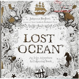 Mindfullness Colouring Book, size 25x25 cm,  80 pages, Lost Ocean, 1pc
