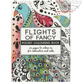 Mindfullness Colouring Book, size 10,5x14,5 cm,  20 pages, Flights of Fancy, 1pc