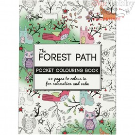 Mindfullness Colouring Book, size 10,5x14,5 cm,  20 pages, The Forest Path, 1pc