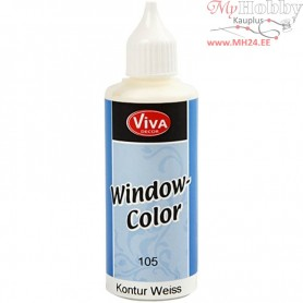 Viva Decor Window Color - Contour, white, 80ml