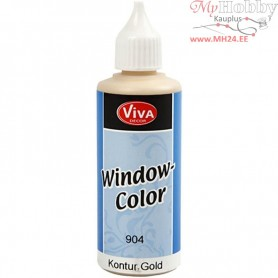 Viva Decor Window Color - Contour, gold, 80ml