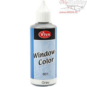 Viva Decor Window Color, grey, 80ml