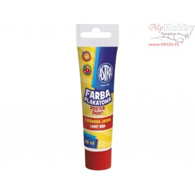 Poster paint ASTRA 30 ml tube - light red