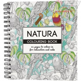 Mindfullness Colouring Book, size 19,5x23 cm,  64 pages, natura, 1pc