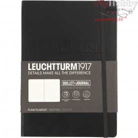 Bullet Journalling Notebook , A5 14x21 cm, thickness 2 cm, black, 1pc, 240 pages