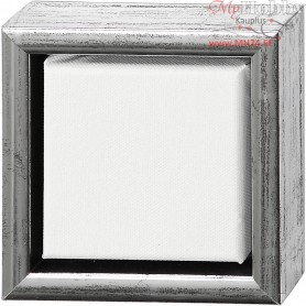 ArtistLine Canvas with frame, outer size 14x14 cm, depth 3 cm, Canvas size 10x10 cm, 6pcs