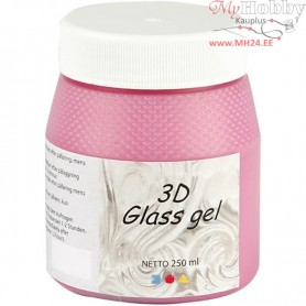 3D Glass Gel, pink, 250ml