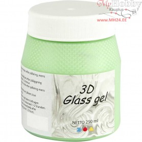 3D Glass Gel, green transparent gel, 250ml