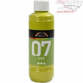 A-Color Glass Paint, kiwi, 250ml