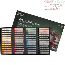 Gallery Soft Pastel Set, thickness 10 mm, L: 6,5 cm, asstd colours, 48pcs