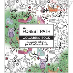 Mindfullness Colouring Book, size 19,5x23 cm,  64 pages, The Forest Path, 1pc