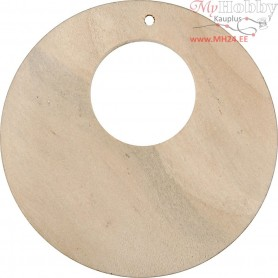 Disc, D: 50 mm, hole size 2 mm, china berry, 80pcs