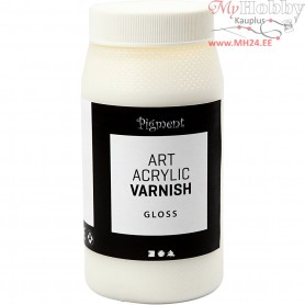 Art Acrylic Varnish, Gloss transparent, white, gloss, 500ml