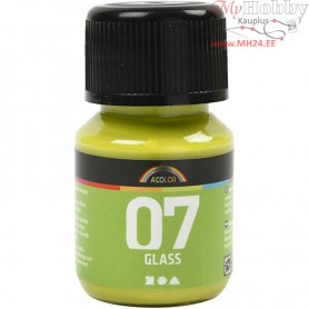 A-Color Glass Paint, kiwi, 30ml
