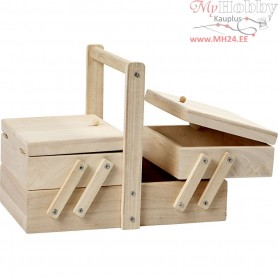 Sewing box, size 24x16,3x19 cm, empress wood, 1pc