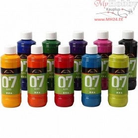 A-Color Glass Paint, asstd colours, 10x250ml