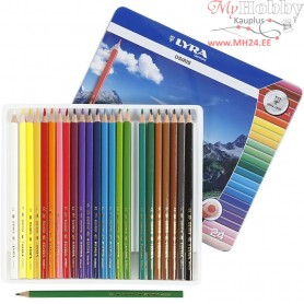 Osiris colouring pencils, lead: 3 mm, L: 18 cm, asstd colours, 24pcs