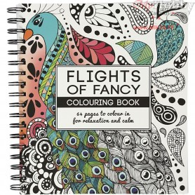 Mindfullness Colouring Book, size 19,5x23 cm,  64 pages, Flights of Fancy, 1pc